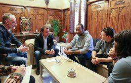 Castellers de Terrassa presenta a l'alcalde els seus nous projectes