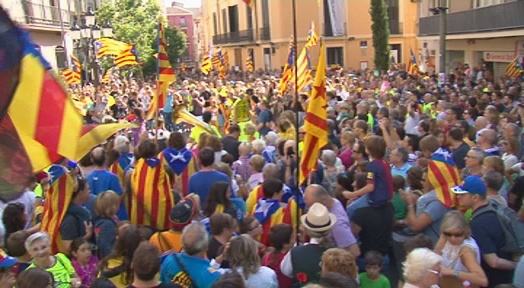 Terrassa es manifesta a favor de l'1 d'octubre
