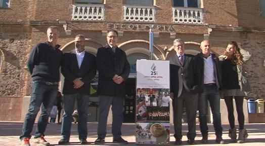 La Torxa Olímpica fa l'última parada a l'Escola Pia abans de l'acte de cloenda d'aquest divendres