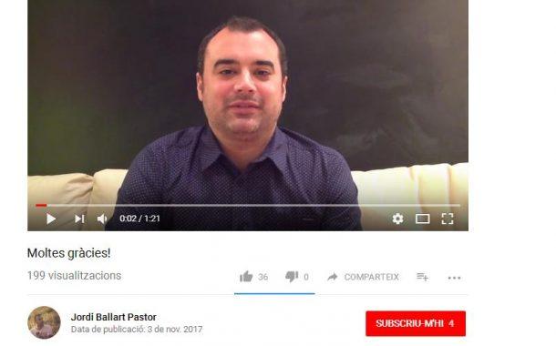 Jordi Ballart, ja com a exalcalde, penja a les xarxes un vídeo d'agraïment i comiat