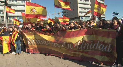 Manifestació per la defensa de la unitat d'Espanya a Terrassa