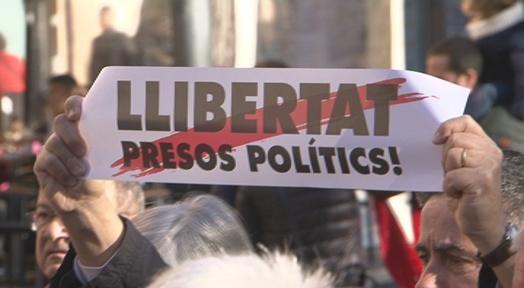 Més actes de suport als presos a la plaça Vella