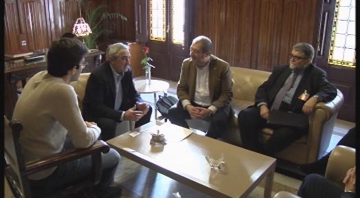 Alfredo Vega es reuneix amb el rector de la UPC, Francesc Torres