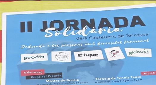 Els Castellers impulsen una jornada solidària amb la diversitat funcional