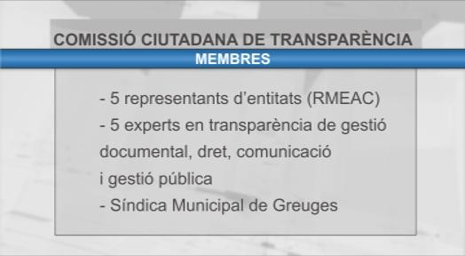 Les entitats ja poden presentar candidats per la nova Comissió Ciutadana de Transparència