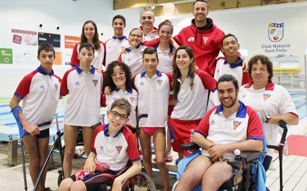 Catorze podis per al CN Terrassa a la Lliga Catalana de Natació Adaptada