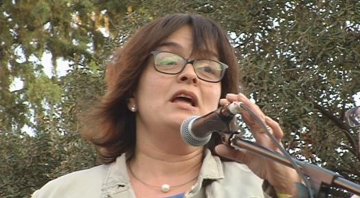 La regidora Meritxell Lluís participa a l'espai groc del parc dels Catalans
