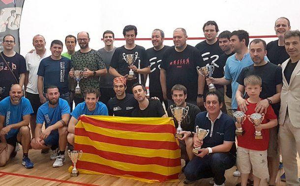 Un total de 80 jugadors van competir a Squash 4 pels títols catalans d'esquaix i de soft-ràquet