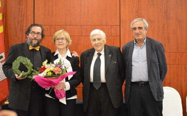 Maria del Carme Canadell i Carles Llongueras, sòcia i ateneista d'honor de l'Ateneu Terrassenc