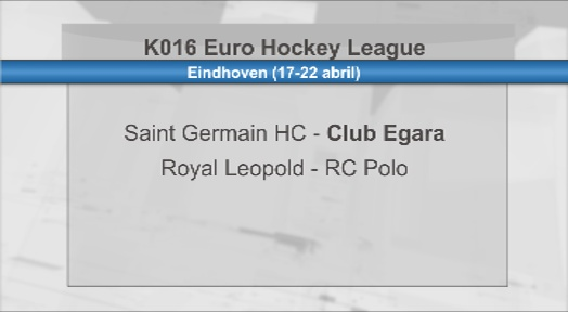 El Saint Germain francès, rival del Club Egara al KO16 de l'Euro Hockey League