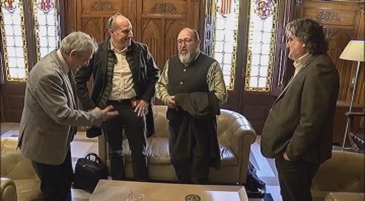 El Cor Montserrat presenta els seus projectes a l'Alcalde