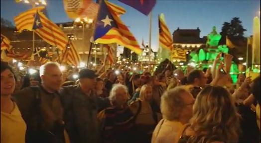 Mig miler de terrassencs van participar dissabte a la manifestació sobiranista a Madrid