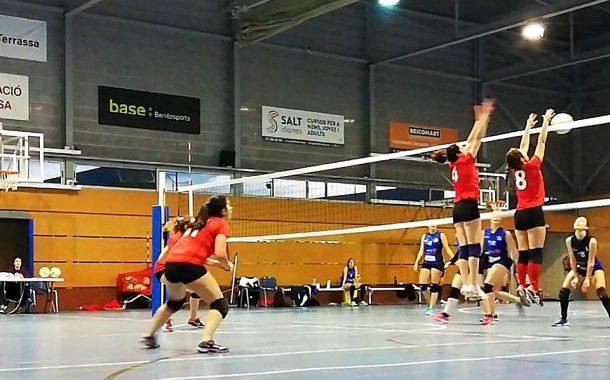 Victòria de l'equip femení del CV Terrassa contra la Palma de Cervelló