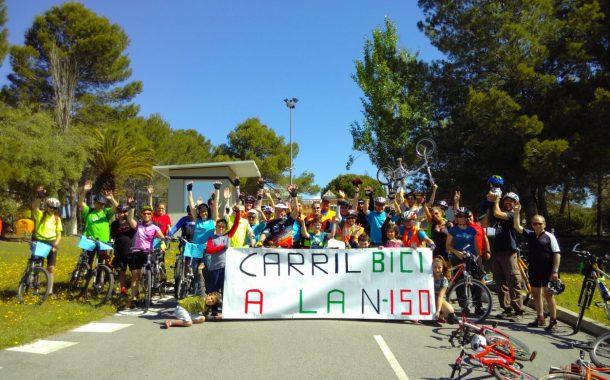 Terrassa, Sabadell i Sant Quirze pedalen junts pel carril bici per la N-150