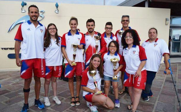 El CN Terrassa suma 19 medalles al Campionat d'Espanya Absolut de Natació Adaptada