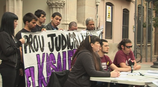 La CUP demana suport a l'Ajuntament en el cas del judici al Kasalet