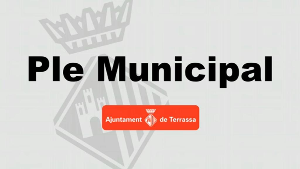 Portada Ple Municipal