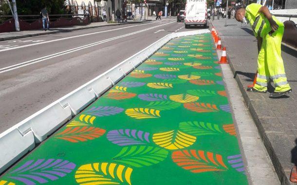 Culminen els treballs  per crear un vial per a vianants al Passeig del Comte d'Ègara