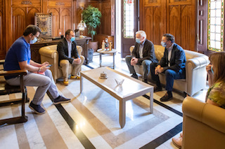 Ballart es reuneix amb Cecot per coordinar mesures de reactivació econòmica