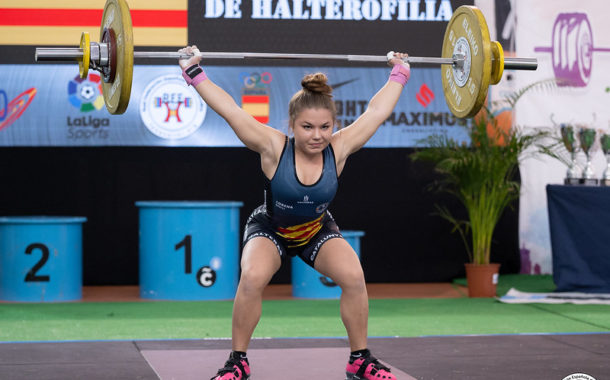 L'aixecadora egarenca Lorena Benítez, del CP Terrassa, campiona d'Espanya Júnior