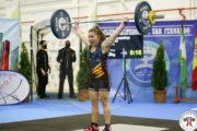 Doble títol de Lorena Benítez al Campionat d'Espanya d'Halterofília sub-15 i sub-17