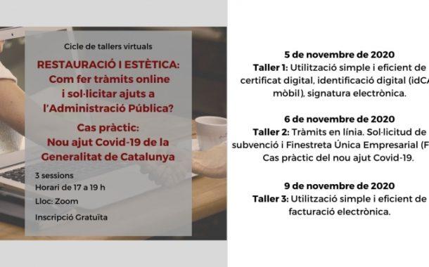 El Consell Comarcal organitza tres tallers per ajudar els sectors de la restauració i l'estètica