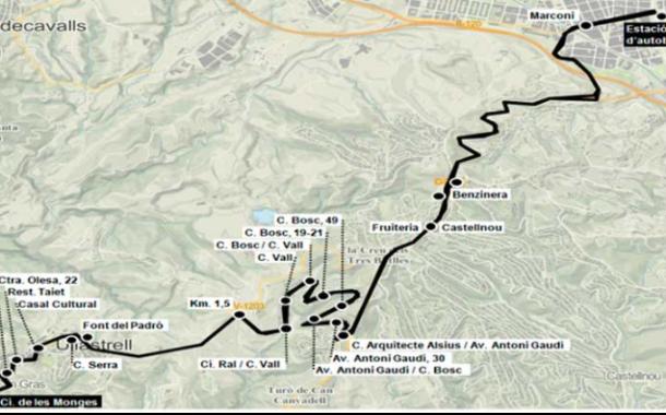 La línia d'autobús a Ullastrell tindrà parades a la urbanització de Ca n'Amat