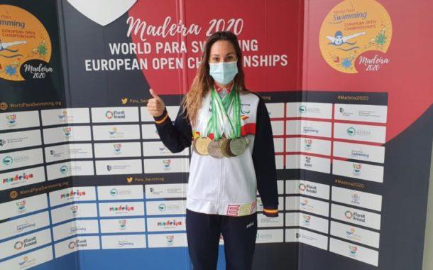 Set medalles, excel·lent botí de Sarai Gascón al Campionat d'Europa de Natació Adaptada