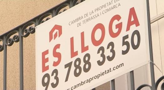 604,03 euros al mes, el preu mitjà del lloguer a Terrassa