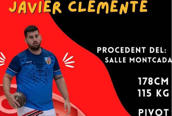 El pivot Javier Clemente, procedent del CH La Salle Montcada, sisè fitxatge de l'Handbol Terrassa