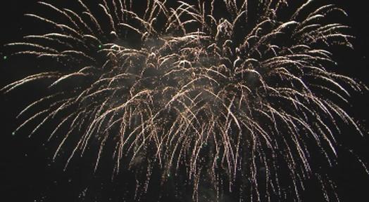 Cinc Castells de Focs simultanis per acabar la Festa Major de Terrassa 2021