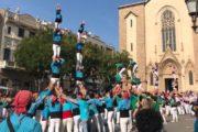 Retorn de Minyons i Castellers amb els Castellers de Sabadell a la plaça de Sant Roc